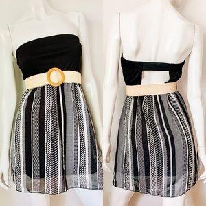 Rue21 Strapless Black & White Dress Sz Medium NWT